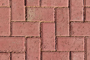 50MM CEMENT BEVEL PAVER RED